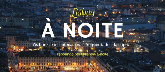 Lisboa à noite: bares e discotecas
